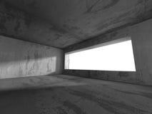 mörk tom lokal Konkreta rostiga väggar Arkitekturgrungebackg Royaltyfria Foton