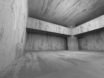mörk tom lokal Konkreta rostiga väggar Arkitekturgrungebackg Fotografering för Bildbyråer