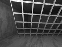 mörk tom lokal Konkreta rostiga väggar Arkitekturgrungebackg Arkivbilder