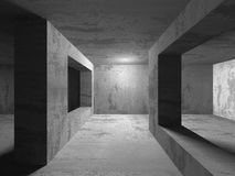 mörk tom lokal Konkreta rostiga väggar Arkitekturgrungebackg Royaltyfri Bild