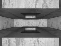 mörk tom lokal Konkreta rostiga väggar Arkitekturgrungebackg Royaltyfri Fotografi