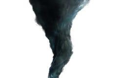 Mörk tromb på vit bakgrund Arkivfoto