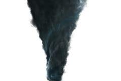 Mörk tromb på vit bakgrund Fotografering för Bildbyråer