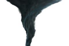 Mörk tromb på vit bakgrund Royaltyfri Fotografi