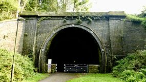 mörk tunnel Fotografering för Bildbyråer