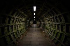 mörk tunnel royaltyfria foton