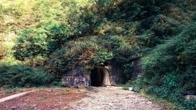 Mörk tunnel i berg Fotografering för Bildbyråer