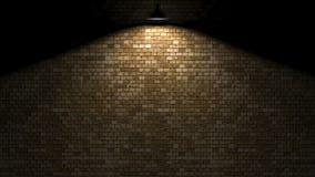 Mörk vägg med lampan ovanför tolkningen 3d Royaltyfria Bilder