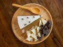 mörk white för cakechoklad Royaltyfri Fotografi
