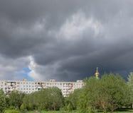 mörk white för surface vatten för sky för floesishav Arkivfoto