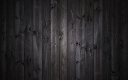 Mörk wood bakgrund, svart textur royaltyfria foton
