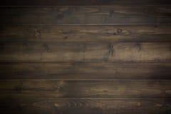 Mörk wood planka Arkivbild