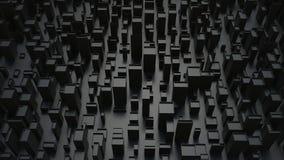 Mörka abstrakta svarta stadsstrukturer - royaltyfria foton