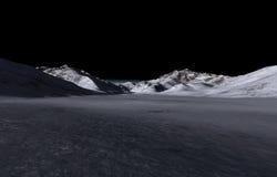 mörka avlägsna kullar Arkivfoton