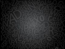 mörka bokstäver Arkivbild