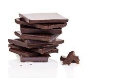 Mörka chokladstycken Arkivbild