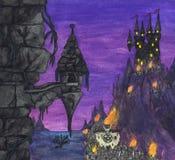 Mörka fästning och riddare (2004) Arkivbild