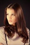 Mörka hår Fotografering för Bildbyråer