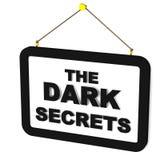 Mörka hemligheter Arkivbild
