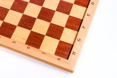 Mörka och ljusa fyrkanter av ett träschackbräde Fotografering för Bildbyråer