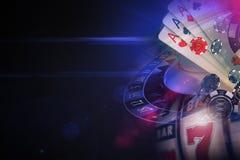 Mörka purpurfärgade kasinolekar Fotografering för Bildbyråer