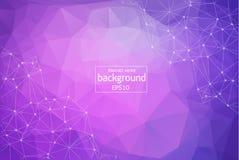 Mörka rosa färger, blå vektorbakgrund med prickar och linjer Abstrakt illustration med färgrika disketter och trianglar Fullständ royaltyfri illustrationer