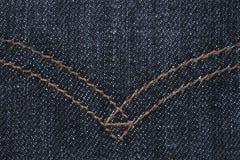 Mörkblå jeanstextur Royaltyfria Foton
