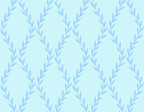 Mörker - blå blom- sömlös modell från sidor på blått Royaltyfri Fotografi