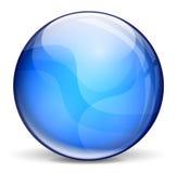 Mörker - blå bubbla Royaltyfri Fotografi