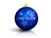 Mörker - blå julboll royaltyfri illustrationer