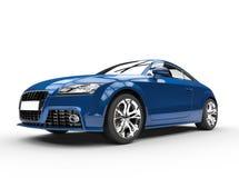 Mörker - blå kraftig bil Front View Fotografering för Bildbyråer