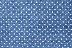Mörker - blå kvinnlig jeans - tygstruktur Royaltyfria Foton