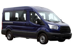 Mörker - blå minibuss Arkivbilder
