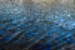 Mörker - blå mosaikabstrakt begreppbakgrund Royaltyfri Foto