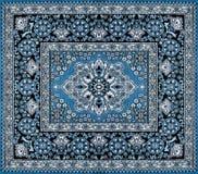 Mörker - blå persisk matta Royaltyfria Bilder