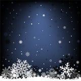 Mörker - blå snöingreppsbakgrund Royaltyfria Foton
