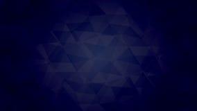 Mörker - blå triangel Arkivbild