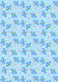 Mörker - blåa blåklinter på ett ljus - blå sömlös bakgrund Arkivbilder