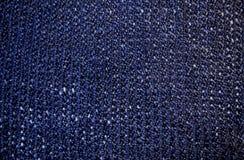 Mörker - blått garn Arkivbild