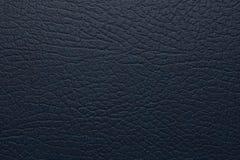 Mörker - blått konstgjort läder Fotografering för Bildbyråer