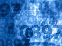Mörker - blått numrerar bakgrundstextur Royaltyfri Foto