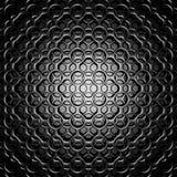 Mörker Dots Background för metallgallermodell royaltyfri illustrationer