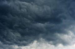 Mörker fördunklar i himlen Royaltyfri Bild