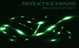 Mörker - grön abstrakt bakgrundsbokehvektor Royaltyfri Bild