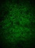 Mörker - grön brokadbladbakgrund Royaltyfri Fotografi