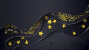 Mörker med guld- stil royaltyfri illustrationer