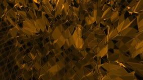 Mörker - orange låg poly vinkande yttersida som geometriskt raster Mörker - orange polygonal geometrisk vibrerande miljö eller vektor illustrationer