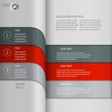 Mörker - röd grå infographics Arkivfoton