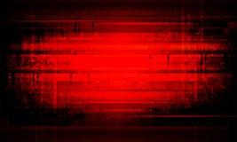 Mörker - röd krusig bakgrund med konturer av suddiga fläckar och band Royaltyfri Foto