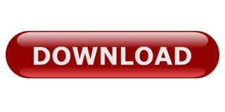 Mörker - röd oval nedladdningknapp för websites Arkivbilder